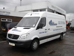 mercedes sprinter long wheel base for hire