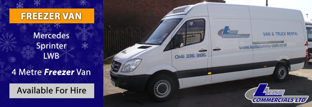 MERCEDES SPRINTER FRIDGE FREEZER VAN FOR HIRE