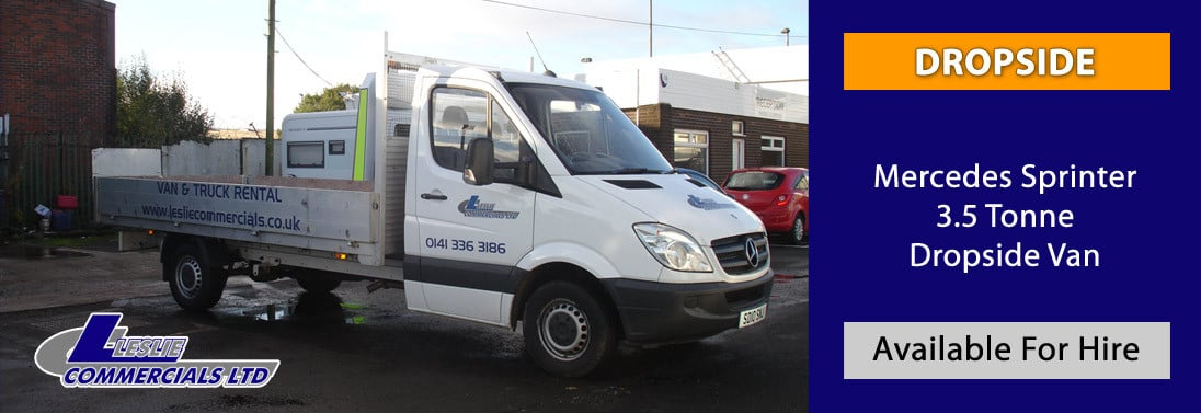MERCEDES SPRINTER 3.5 TONNE DROPSIDE FOR HIRE