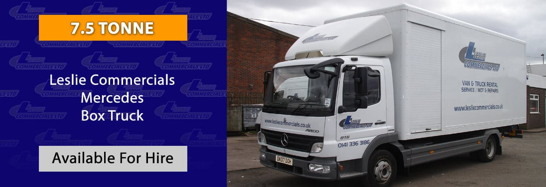 MERCEDES 7.5 TONNE BOX TRUCK for HIRE